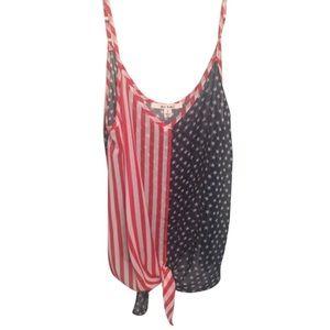 Fourth of July spirit tie tank top
